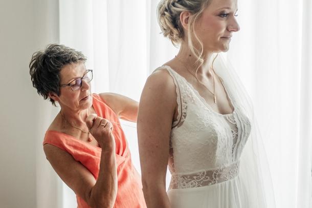 Hochzeit, Getting Ready, Hochzeitsfotos, Brautkleid