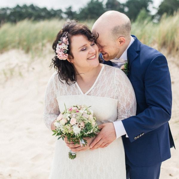 Hochzeit, Brautpaar, Strandhochzeit, Brautpaarfotos