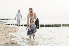 Familienzeit am Strand- Fotoshooting an derOstsee