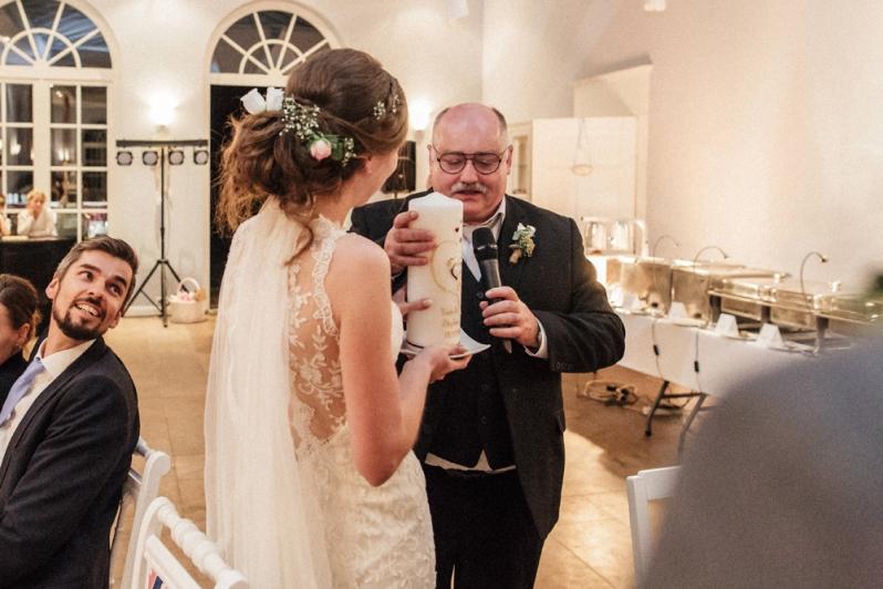 Hochzeit, Brautpaar, vintage, Rede, Gäste, Hochzeitskerze