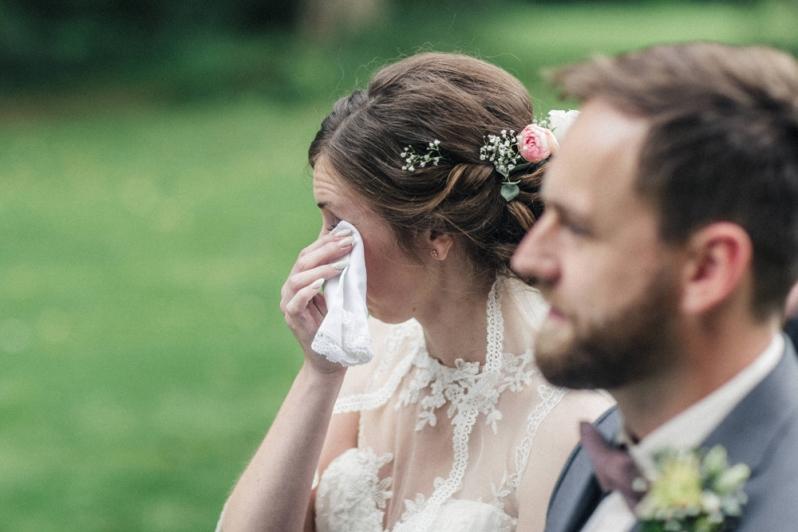Hochzeit, Trauung, Eheversprechen, Tränen, Taschentuch, Vintage