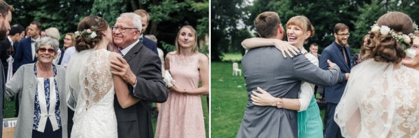Hochzeit, Sektempfang, Gäste, Gratulation