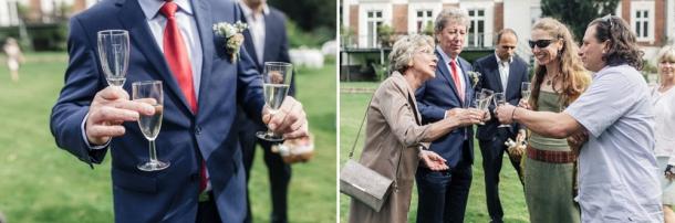 Hochzeit, Sektempfang, Gäste