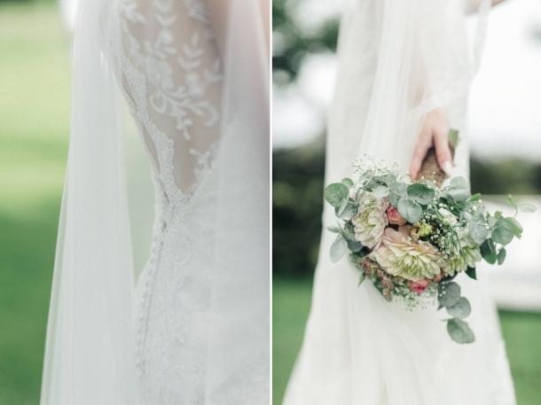 Hochzeit, Brut, Brautkleid, Brautstrauss