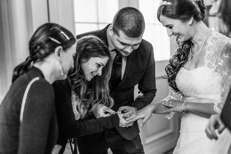 Hochzeit, Schloss Schorrsow, Gratulation