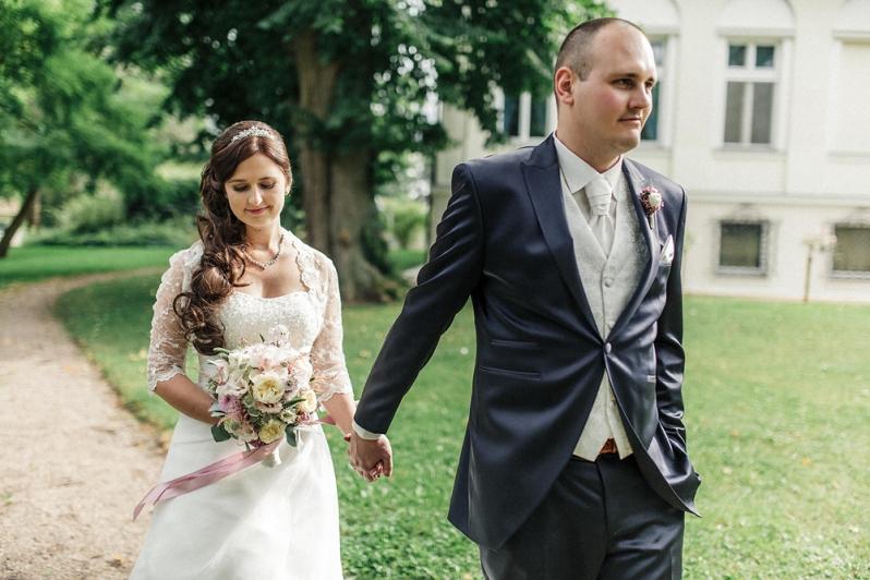 Hochzeit, Schloss Schorrsow, Brautpaar