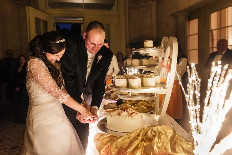 Hochzeit, Schloss Schorrsow, Brautpaar, Hochzeitstorte