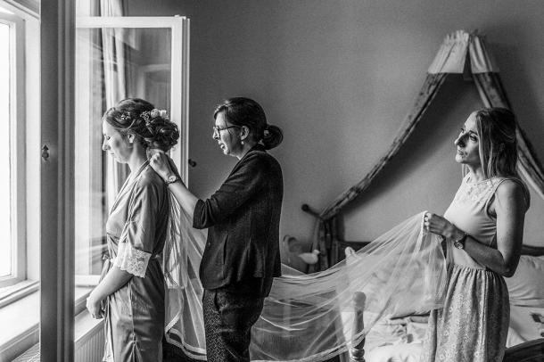 Hochzeit, Braut, Brautkleid, Getting Ready, Schleier